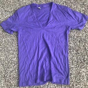 Men's deep v tee shirt.